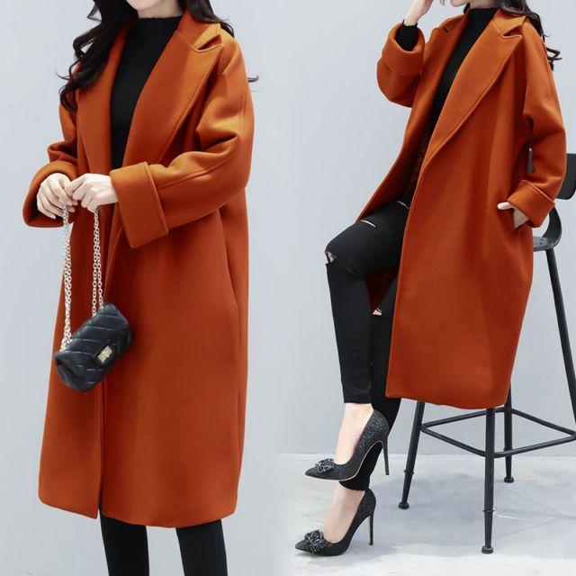 我的前半生罗子君马伊琍同款驼色双面羊绒大衣女中长款最新秋冬新