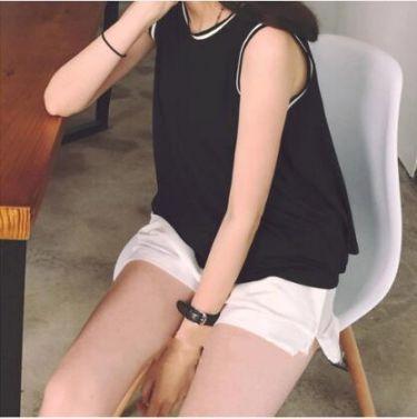 夏天新款宽松无袖t恤女可外穿吊带背心女打底衫运动上衣